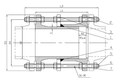 Rong Sheng Long Rubber Seals-Flange Adapter Rubber Ring | Rubber Gasket For Pipe Flange | Flange Ada-6