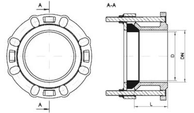 Rong Sheng Long Rubber Seals-Flange Adapter Rubber Ring | Rubber Gasket For Pipe Flange | Flange Ada-7