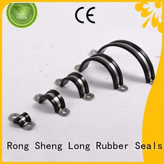 Rubber tube clamp pieces